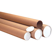 """Mailing Tubes With Caps Heavy Duty 4"""" x 72"""" - 12 Pack"""