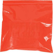 "Reclosable Bags 8"" x 10"" 2 Mil Red 1000 Pack"