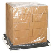"Clear Pallet Covers 26"" x 24"" x 48"" 3 Mil 50 Pack"