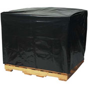"Black Pallet Covers 48"" x 40"" x 48"" 3 Mil 50 Pack"