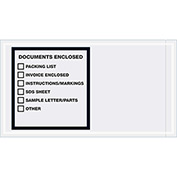 "Documents Enclosed - Printer Clear Full Face - 5-1/2"" x 10"" - 1000 Pack"