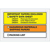 "Important Papers Enclosed SDS - Full Face Yellow/Orange - 6-1/2""x 10"" - 1000 Pack"