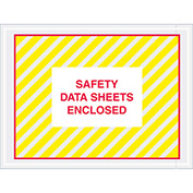 """SDS Enclosed - Yellow/Red Full Face - 4-1/2"""" x 6"""" - 1000 Pack"""