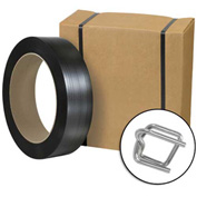 """Jumbo Poly Strapping Kit 1/2"""" x 9,000' Coil With Tensioner, Cutter & 1,000 Buckles"""