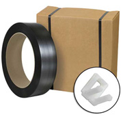 """Jumbo Postal Approved Poly Strapping Kit 1/2"""" x 9,000' Coil With Tensioner, Cutter & 1,000 Buckles"""