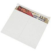 "White Utility Pressure Sensitive Closure Flat Mailer 14-7/8"" x 11-7/8"" - 200 Pack"