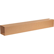"Double Wall Telescoping Outer Boxes 6-3/4"" x 6-3/4"" x 48"", 275 lb.Test//ECT-48 Kraft - 15 Pack"