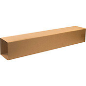 "Double Wall Telescoping Outer Boxes 8-3/4"" x 8-3/4"" x 48"", 275 lb.Test/ECT-48 Kraft - 15 Pack"