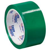 "Carton Sealing Tape 2"" x 55 Yds 2.2 Mil Green - Pkg Qty 6"