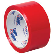 "Carton Sealing Tape 4"" x 6-1/2"" 2.2 Mil Red - 18/PACK"