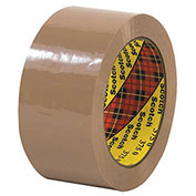 "3M™ Scotch® 375 Carton Sealing Tape 2"" x 55 Yds. 3.1 Mil Tan - Pkg Qty 6"