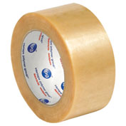 "Natural Rubber Carton Sealing Tape 2"" x 55 Yds 2.2 Mil Clear - 6/PACK"