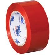 "Carton Sealing Tape 2"" x 55 Yds 2.2 Mil Red - 18/PACK"