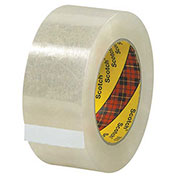 "3M™ 313 Carton Sealing Tape 2"" x 55 Yds. 2.5 Mil Clear - Pkg Qty 6"