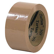 "3M 369 Carton Sealing Tape 2"" x 110 Yds 1.6 Mil Tan  - Pkg Qty 6"