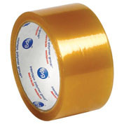 "Natural Rubber Carton Sealing Tape 2"" x 110 Yds 2.9 Mil Clear - 6/PACK"