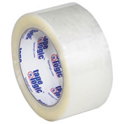 "Hot Melt Carton Sealing Tape 2"" x 110 Yds 2.2 Mil Clear - 6/PACK"