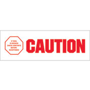 """Printed Carton Sealing Tape """"Caution - If Seal Is Broken"""" 2"""" x 110 Yds Red/Wht - 18/PACK"""