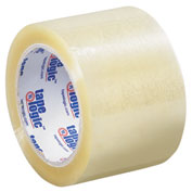 "Carton Sealing Tape 3"" x 110 Yds 1.6 Mil Clear - 6/PACK"