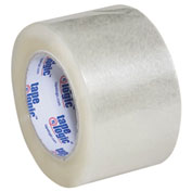 "Carton Sealing Tape 3"" x 110 Yds 2.6 Mil Clear - 6/PACK"