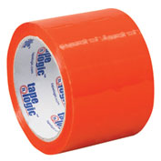 "Carton Sealing Tape 3"" x 55 Yds 2.2 Mil Orange - Pkg Qty 6"