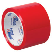 "Carton Sealing Tape 3"" x 55 Yds 2.2 Mil Red - Pkg Qty 6"