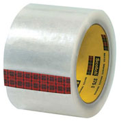 "3M™ 375 Carton Sealing Tape 3"" x 55 Yds 3.1 Mil Clear - 6/PACK"