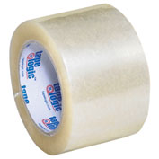 "Carton Sealing Tape 3"" x 110 Yds 2 Mil Clear- 6/PACK"