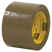 "3M™ 373 Carton Sealing Tape 3"" x 110 Yds 2.5 Mil Tan - 6/PACK"