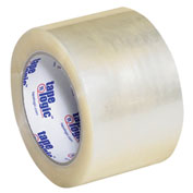 "Carton Sealing Tape 3"" x 110 Yds 1.9 Mil Clear - Pkg Qty 6"