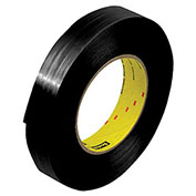 "3M™ 890MSRB Black Strapping Tape 1"" x 60 Yds 8 Mil Black - 12/PACK"