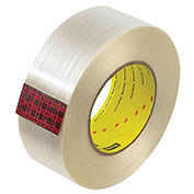 "3M™ Scotch® 890MSR Strapping Tape 2"" x 60 Yds. 8 Mil Clear - Pkg Qty 12"