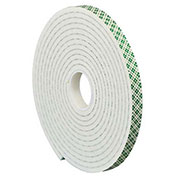 "3M 4004 Double Sided Foam Tape 1"" x 5 Yds 1/4"" Thick Natural"