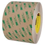 "3M 468MP Adhesive Transfer Tape Hand Rolls 6"" x 60 Yds 5 Mil Clear"