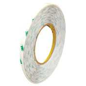 3M 9085 Adhesive Transfer Tape Hand Rolls 1/4 x 60 Yds 5 Mil Clear, Pack of 6