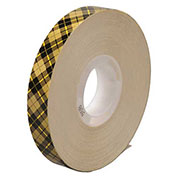3M 908 Adhesive Transfer Tape 1/2 x 36 Yds 2 Mil Clear, Pack of 6
