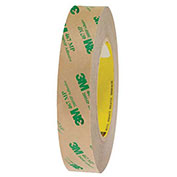 3M 467MP Adhesive Transfer Tape Hand Rolls 1 x 60 Yds 2 Mil Clear, Pack of 6