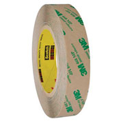 3M 468MP Adhesive Transfer Tape Hand Rolls 1 x 60 Yds 5 Mil Clear, Pack of 6