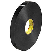 "3M 4929 Double Sided VHB Acrylic Foam Tape 1"" x 5 Yds 25 Mil Black"