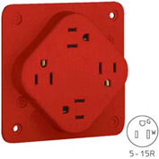 Bryant 1254R QUADPLEX®Receptacle / 15A / 125V / Red