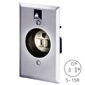 Bryant 2828GS Clock Hanger Receptacle, 15A, 125V, Stainless