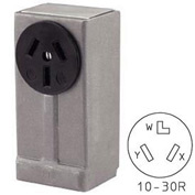 Bryant 3926BRY Surface Receptacle, 50A, 125/250V, Black
