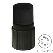 Bryant 4732NCB TECHSPEC® Connector, L5-15, 15A, 125V, Black