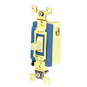 Bryant 4821GRY Industrial Grade Toggle, Single Pole, Double Throw, 15A, 120/277V AC- Momentary