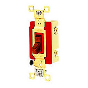 Bryant 4904BRED Industrial Grade Toggle Switch, Four Way, 20A, 120/277V AC, Red