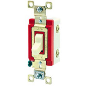 Bryant 4904W Industrial Grade Toggle Switch, Four Way, 20A, 120/277V AC, White