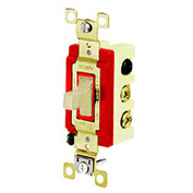 Bryant 4922I Toggle Switch, Single Pole, Double Throw, 20A, 120/277V AC, Ivory