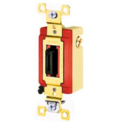 Bryant 4925L Toggle Switch, Double Pole, Double Throw, 20A, 120/277V AC, Locking