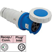 Bryant 5100C9W Connector, 4 Pole, 5 Wire, 100A, 3ph Y 120/208V AC, Blue