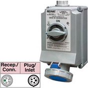 Bryant 560SMI9W Mechanically Interlocked, 4 Pole, 5 Wire, 60A, 3ph Y 120/208V AC, Blue